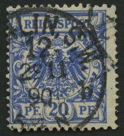 Dt. Reich 48aa O, 1889, 20 Pf. Lebhaftlilaultramarin, Pracht, Gepr. Zenker, Mi. 90.-