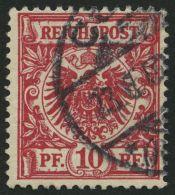 Dt. Reich 47ea O, 1899, 10 Pf. Braunrot, Normale Zähnung, Pracht, Gepr. Wiegand, Mi. 80.-
