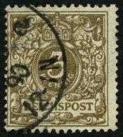 Dt. Reich 45aa O, 1889, 3 Pf. Dunkelbraun, Pracht, Gepr. Zenker, Mi. 85.-
