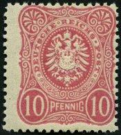 Dt. Reich 41a **, 1880, 10 Pf. Lebhaftkarmin, Postfrisch, Pracht, Gepr. Wiegand, Mi. 120.-
