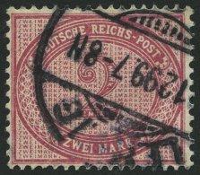 Dt. Reich 37f O, 1899, 2 M. Lilakarmin, Pracht, Gepr. Wiegand, Mi. 50.-