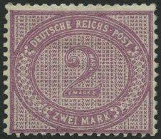 Dt. Reich 37d *, 1889, 2 M. Stumpfviolettpurpur, Falzreste, Zähnung Nicht Ganz Perfekt Sonst Farbfrisch Pracht, Fot