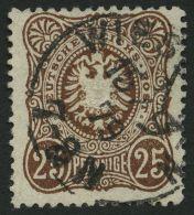Dt. Reich 35c O, 1879, 25 Pfe. Dunkelbraun, Normale Zähnung, Pracht, Gepr. Zenker, Mi. 300.-