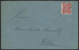 Dt. Reich 33a BRIEF, 1875, 10 Pfe. Karmin, üblich Gezähnt, Auf Brief Mit R1 STEELE, Rückseitiger R3 STEEL