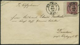 NDP U 50A BRIEF, 1863, 1 Gr. Rosa Auf 2 Ngr. Blau, Format A, Pracht, K2 GRIMMA, Feinst, Mi. 110.-