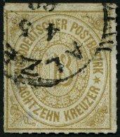 NDP 11 O, 1868, 18 Kr. Olivbraun, Pracht, Mi. 80.-