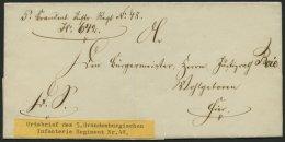 SCHLESWIG-HOLSTEIN Ortsbrief Des 5. Brandenb. Inftr. Regiment No. 48, Zug 642, Unten Kleiner Einriß Sonst Pracht