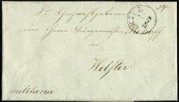 SCHLESWIG-HOLSTEIN 1849, Brief Von KIEL (K1) Nach Wilster, Handschriftlich Militaria, Rückseitig Komplettes Lacksie