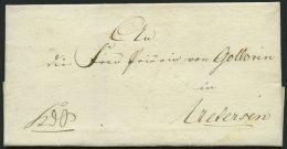 SCHLESWIG-HOLSTEIN 1815, K.D.S. Von Kiel Nach Uetersen, Komplettes Lacksiegel Königl:/zur Besitzn:der/zu Räume