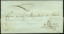 SCHLESWIG-HOLSTEIN 1808, Feldpostbriefhülle An Den Magistrat Der Stadt, Rückseitiges Lacksiegel Itzehoes Coman