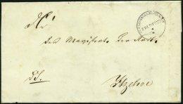 SCHLESWIG-HOLSTEIN 1850, SCHLESWIG HOLSTEINISCHE FELDPOST, K1 Mit Datum Auf Brief Von Rendsburg Nach Itzehoe, Rücks