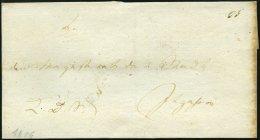 SCHLESWIG-HOLSTEIN 1806, K.D.S.-Briefhülle An Den Magistrat Der Stadt Itzehoe, Rückseitiges Schwarzes Lacksieg
