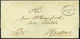 SCHLESWIG-HOLSTEIN Ca. 1851, SCHLESWIG.HOLST: FELDPOST, Ovalstempel Mit Datum Auf K.D.S.-Briefhülle Nach Itzehoe, R