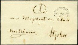 SCHLESWIG-HOLSTEIN Ca. 1851, SCHLESWIG.HOLST: FELDPOST No. I, Ovalstempel Auf Militärbriefhülle Nach Itzehoe,