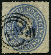 SCHLESWIG-HOLSTEIN 21 O, 179 (KORSOER JERNB. POSTEXPEDITION) Auf 2 S. Mittelgrauultramarin, Marke Repariert - Fein