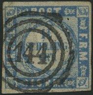 SCHLESWIG-HOLSTEIN 5I O, 144 (REINBECK) Auf 11/4 S. Gewellter Grund, Kaum Sichtbare Eckknitter, Pracht