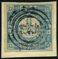 SCHLESWIG-HOLSTEIN 6 BrfStk, 123 (MELDORF) Auf 11/4 S. Grauultramarin, Prachtbriefstück