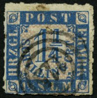 SCHLESWIG-HOLSTEIN 7 O, 115 (EUTIN) Auf 11/4 S. Mittelblau/weißrosa, Feinst