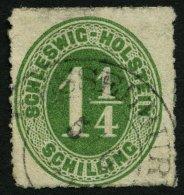 SCHLESWIG-HOLSTEIN 9 O, WESSELBUREN, K2 Auf 11/4 S. Olivgrün, Feinst