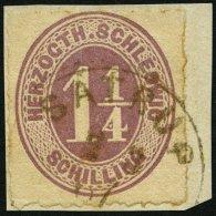 SCHLESWIG-HOLSTEIN 14 BrfStk, SATRUP, K1 Auf 11/4 S. Rosalila, Prachtbriefstück