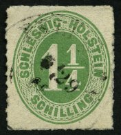 SCHLESWIG-HOLSTEIN 9 O, PELLWORM, K2 Auf 11/4 S. Olivgrün, Feinst