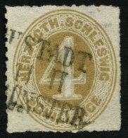 SCHLESWIG-HOLSTEIN 17 O, NEUSTADT/NEUMÜNSTER, L3 Auf 4 S. Braunocker, Feinst (falzhelle Stelle)