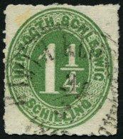 SCHLESWIG-HOLSTEIN 4 O, BAHNHOF KLOSTERBURG, K1 Auf 11/4 S. Dunkelgelblichgrün, Feinst