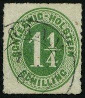 SCHLESWIG-HOLSTEIN 9 O, GRAM, K2 Auf 11/4 S. Olivgrün, Pracht