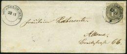 SCHLESWIG-HOLSTEIN 18c BRIEF, 1867, 11/4 S. Mittelgrau Auf Kleinem Brief Mit K2 WESSELBUREN (ohne Jahreszahl 67) Nach Al