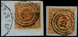 SCHLESWIG-HOLSTEIN DK 4,7 BrfStk, 192 (SCHLESW. BAHNPOST-SPEDITIONSBUREAU) Auf 4 S. Punktierter Und Linierter Grund, 2 P