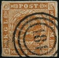 SCHLESWIG-HOLSTEIN DK 4 O, 184 (SCHL.POST.SPED.BUREAU) Auf 4 S. Punktiert, Pracht, R!