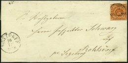 SCHLESWIG-HOLSTEIN DK 7 BRIEF, 171 (GETTORF) Auf Briefhülle Mit 4 S. Liniert, Feinst (Nummernstempel Unklar)