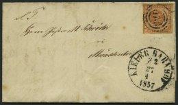 SCHLESWIG-HOLSTEIN DK 4 BRIEF, 170 (KIELER BAHNHOF ZUG 2) Auf 4 S. Punktiert, Kleiner Prachtbrief