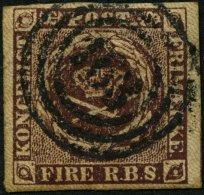 SCHLESWIG-HOLSTEIN DK 1IIa O, 163 (HOLSTEINISCHES BAHNPOST-SPEDITIONSBUREAU) Auf 4 RBS Rotbraun, Pracht