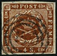 SCHLESWIG-HOLSTEIN DK 7 O, 158 (LENSAHN) Auf 4 S. Liniert, Pracht