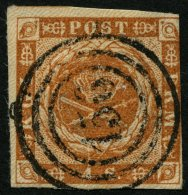 SCHLESWIG-HOLSTEIN DK 4 O, 156, L.P. No. 2 (HANERAU) Auf 4 S. Punktiert, Links Leicht Berührt Sonst Pracht