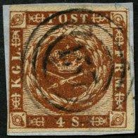 SCHLESWIG-HOLSTEIN DK 7 BrfStk, 157, L.P. No. 4 (KALTENKIRCHEN) Auf 4 S. Liniert, Links Berührt Sonst Prachtbriefst