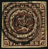 SCHLESWIG-HOLSTEIN DK 1IIa O, 152 (SCHWARZENBECK) Zentrisch Auf 4 RBS Rotbraun, Pracht, R!