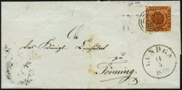 SCHLESWIG-HOLSTEIN DK 4 BRIEF, 143 (LUNDEN) Auf 4 S. Punktiert, Brief Feinst
