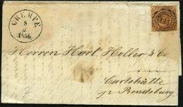 SCHLESWIG-HOLSTEIN DK 4 BRIEF, 141 (CREMPE) Auf 4 S. Punktiert, Brief Feinst