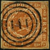 SCHLESWIG-HOLSTEIN DK 4 O, 141 (CREMPE) Auf 4 S. Punktiert, Pracht