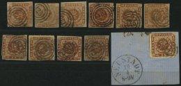 SCHLESWIG-HOLSTEIN DK 4,7 O, BrfStk, 125 (NEUSTADT) Auf 4 S. Punktiert (4x) Und 4 S. Liniert (7x), 11 Werte Feinst/Prach