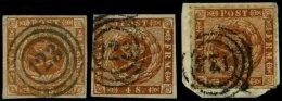 SCHLESWIG-HOLSTEIN DK 4,7,9 O, BrfStk, 123 (MELDORF) Auf 4 S. Punktierter Und Linierter Grund Und Durchstochen, 3 Pracht