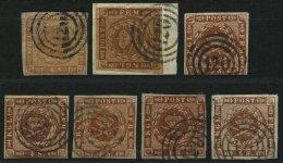 SCHLESWIG-HOLSTEIN DK 4,7 O, BrfStk, 120 (KELLINGHUSEN) Auf 4 S. Punktiert (1x) Und 4 S. Liniert (6x In Farbnuancen), 7