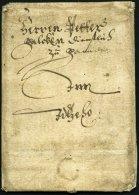 SCHLESWIG-HOLSTEIN - ALTBRIEFE Ca. 1643, Gut Erhaltene Kleine Briefhülle Aus Der Zeit Des 30jährigen Krieges N
