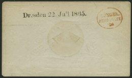 SACHSEN DRESDEN 22.JULI 1865, L1 Und Roter K1 SÄNGER-FEST-PLATZ Auf Schmuckkuvert Des Sängerbundes (Typ. C. He