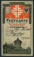 BAYERN PP 15C55 BRIEF, Privatpost: 1903, 5 Pf. Wappen X. Deutsches Turnfest In Nürnberg 1903 (PP 15C55/01/2, 04-06)