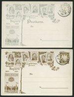 BAYERN PP10C9/11C6 BRIEF, Privatpost: 1806-1906, 2 Und 3 Pf. Wappen Centenar-Feier, Bayrische Jubiläums-Ausstellung