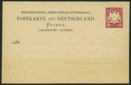 BAYERN P 22z BRIEF, 1884, 10 Pf. Auslandskarte Ohne Wappen, Mit Wz. 6Z, Ungebraucht, Pracht, Mi. 60.-
