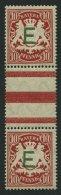 BAYERN D 3ZSIII **, 1908, 10 Pf. Karminrot Im Senkrechten Zwischenstegpaar (dort Wie üblich 1x Gefaltet), Pracht, M